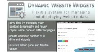 Website dynamic widgets