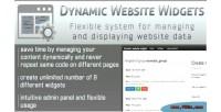 Website dynamic widgets