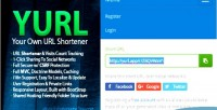 Yurl self hosted url tracking click shortener