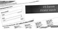 Zipcode us distance search