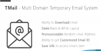 Multi tmail domain system email temporary