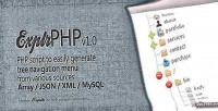 Easy explrphp menu navigation tree