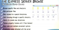 Express the server browse