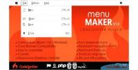 Maker menu codeigniter plugin
