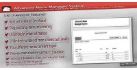 Menu advanced manager system