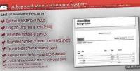 Menu advanced manager system