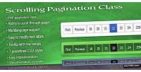 Pagination scrolling class