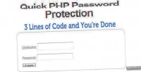 Quick php password protection system login