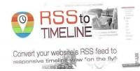 Timeline rss responsive feedreader
