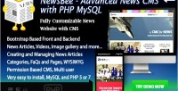 Newsbee fully featured news cms with mysql php bootstrasp