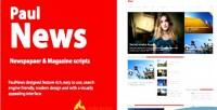 Newspaper paulnews script magazine and