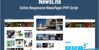 Online newslite cms newspaper responsive