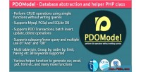 Pdomodel database abstraction & class php helper