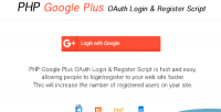 Plus google oauth php login with register