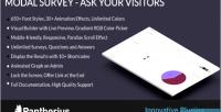 Modal survey quiz poll system voting ajax