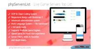 Premium phpserverslist live list servers game