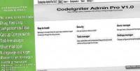 Admin codeigniter pro