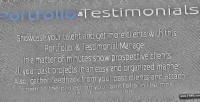 And portfolio testimonials manager