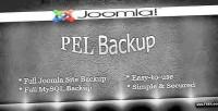 Backup pel for joomla