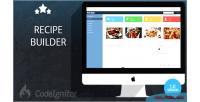 Builder recipe system management user