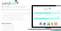 Cms sandbox development tool web manager