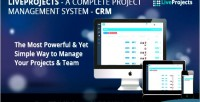 Complete liveprojects crm management project