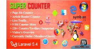 Counter super v1 laravel & page counter hit article