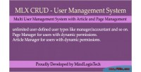 Crud mlx system management user