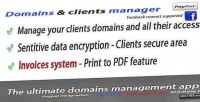 Domains ultimate clients paypal with manager
