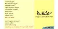 Drag builder n builder site drop