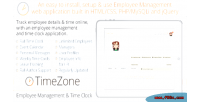 Employee timezone clock time management