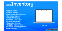 Inventory basic stock management