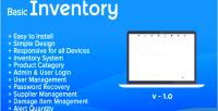 Inventory basic stock management