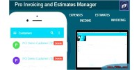 Invoicing pro manager estimates and
