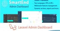 Laravel smartend admin dashboard