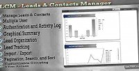 Leads lcm contacts manager
