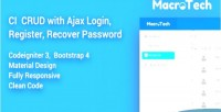 Macrotech codeigniter crud authentication ajax with