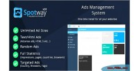 Management ads system html banners for