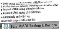 Mysql easy backup restore
