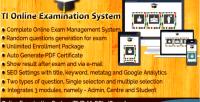 Online ti examination system