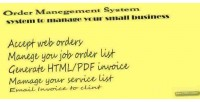 Order web management system