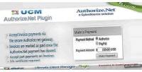 Plugin ucm authorize.net payments