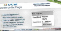 Plugin ucm authorize.net payments