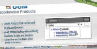 Plugin ucm job products invoice and