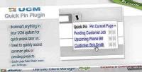 Plugin ucm bookmark pin quick