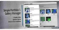 Portfolio simple php manager gallery