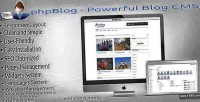 Powerful phpblog blog cms