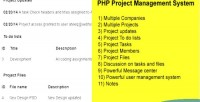 Project php management system