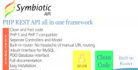Rest php api framework all one in