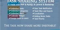 Sharing task system laravel